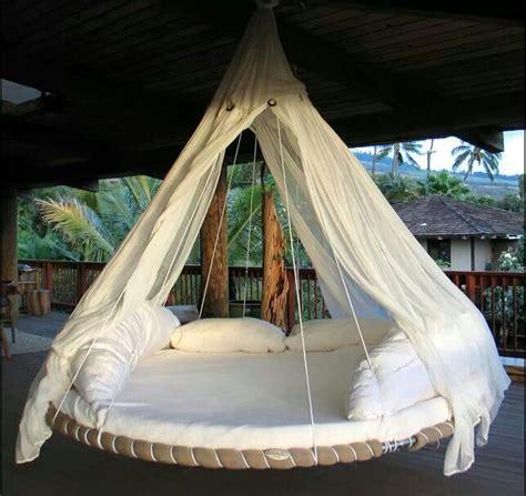 hammock bed hammock out of old troline outdoor ideas pinterest