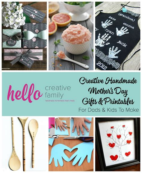 S Day Gifts Handmade - creative handmade mothers day gifts and printables for