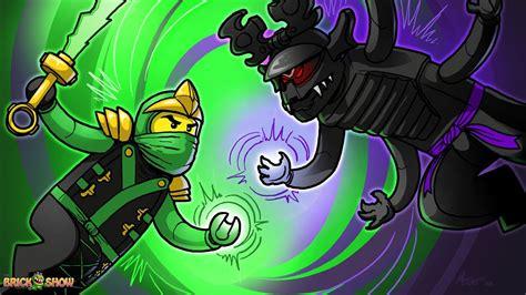 lego ninjago final battle coloring pages brickart lego ninjago green ninja vs overlord final