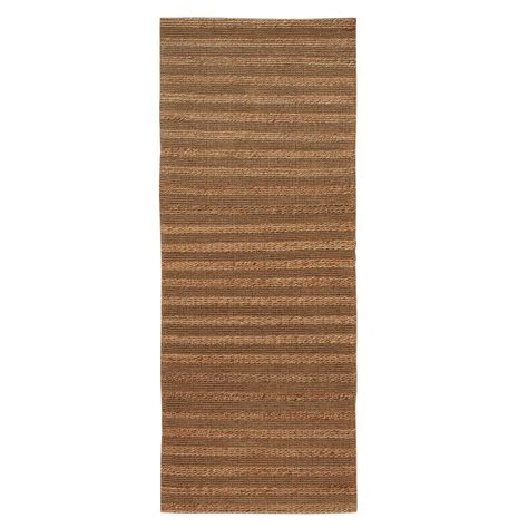 home decorators collection madelyn 41 in natural home decorators collection banded jute natural 3 ft x 12