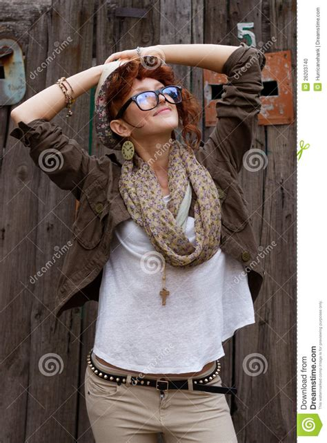 happiest hipster happy hipster girl outdoors stock photo image 26203740
