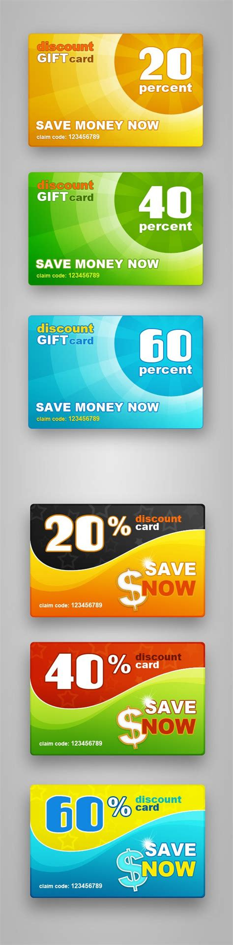 Finance Gift Cards - free psd discount gift cards vector files 365psd com