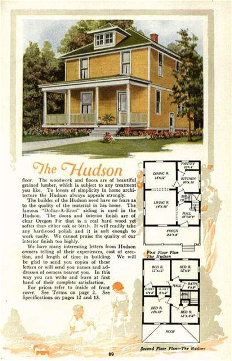 american foursquare house plans american foursquare floor plans sears the alhambra images