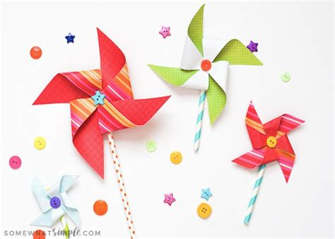 pinwheel paper craft paper pinwheels summer craft for somewhat