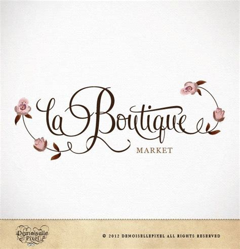 free logo design for boutique boutique logo design custom calligraphy text flowers for