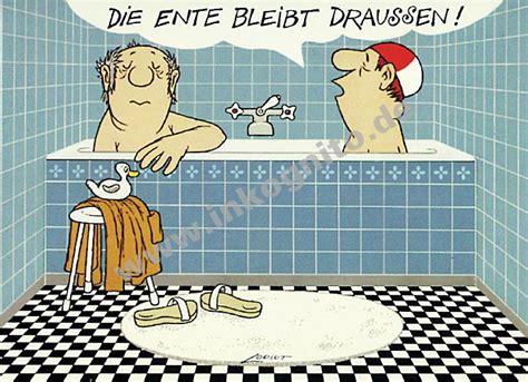 loriot badewanne poster herren im bad satire nach themen postkarten inkognito