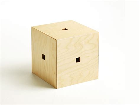 Cube Stools by Cube 6 Naho Matsuno S Clever Wood Cube Transforms Into
