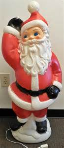 hard plastic blowmold 40 quot christmas santa claus outdoor