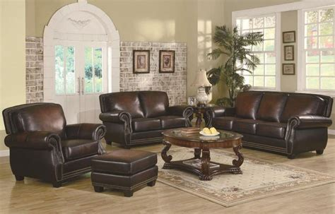 leathertrimmedsofa traditional rich brown leather