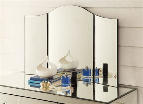 Vanity Table With Fold Mirror by Monaco Vanity Tri Fold Mirror For Dressing Table Or