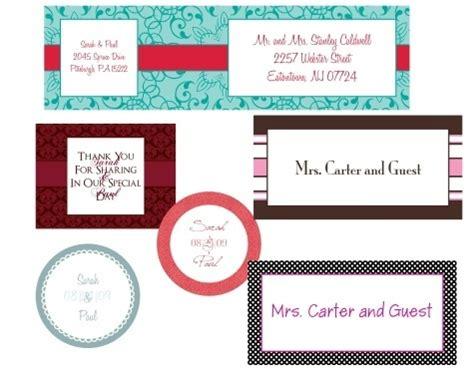 more wedding labels