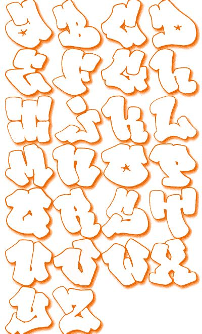 graffiti walls lettter    graffiti alphabet bubble