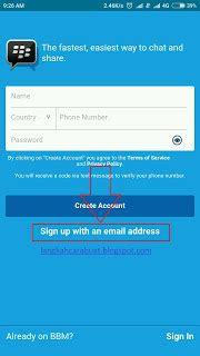 cara membuat email baru pada blackberry buat id blackberry cara buat akun bbm id baru di android