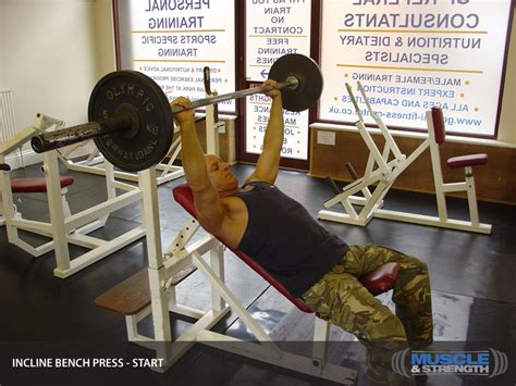incline bench press tips incline bench press video exercise guide tips muscle