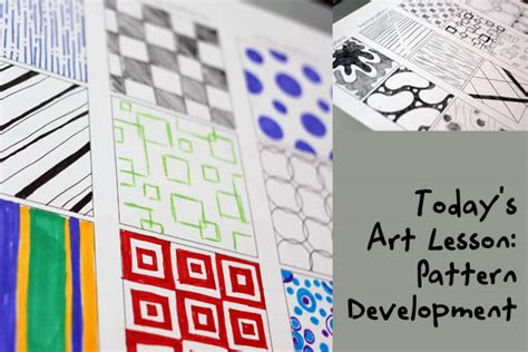 pattern in art lesson plan art patterns worksheets