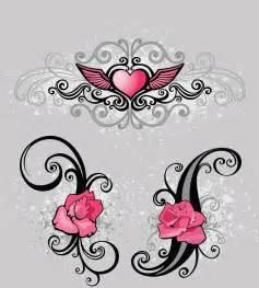 Winged heart with flowers tattoo design tattooshunt com