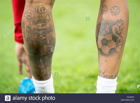 neymar new tattoo soccer tattoos stock photos soccer tattoos stock images