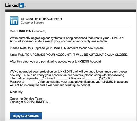 Search Linkedin By Email Report Phishing Emails In Linkedin Intero Advisory