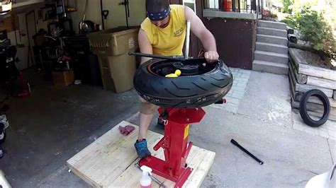 motorcycle tire change  ebay tire changer youtube