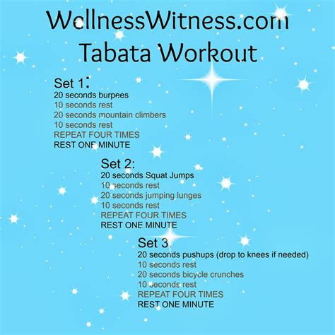 wellness witness at home workout idea tabata style