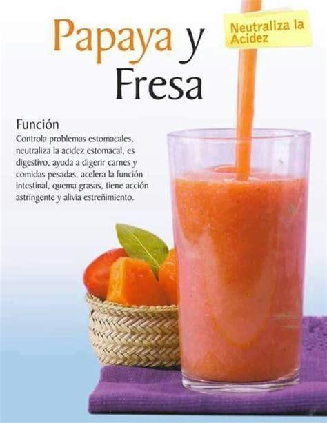 Papaya Detox Drink papaya y fresa healthy