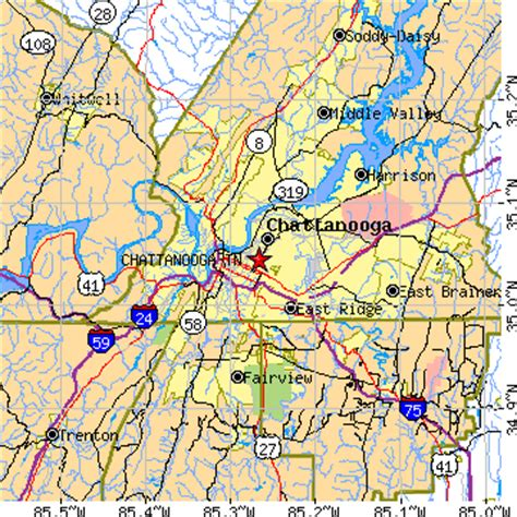 zip code map chattanooga tn chattanooga tennessee tn population data races