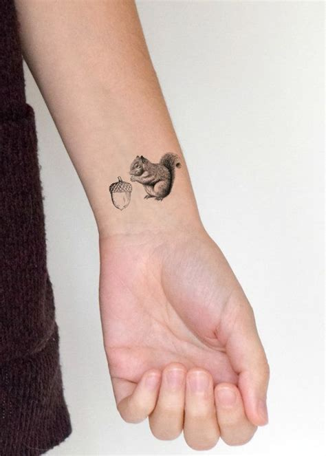 squirrel tattoo squirrel and nut temporary stuffer