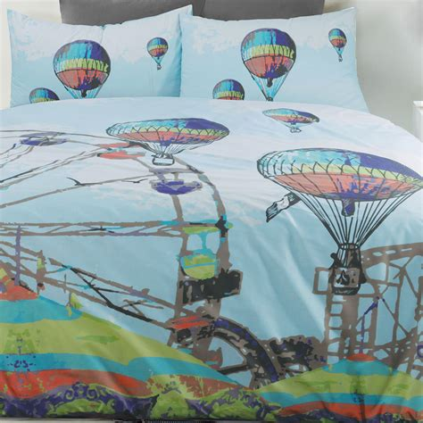 hot air balloon bedding carnival quilt doona duvet cover set bedding hot air