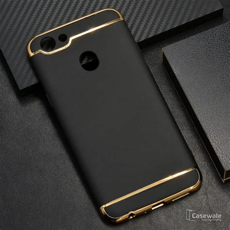 Oppo F5 Tempered Glass Black White High Quality Promo Price F 5 oppo f5 ultra thin electroplated gold plating casewale