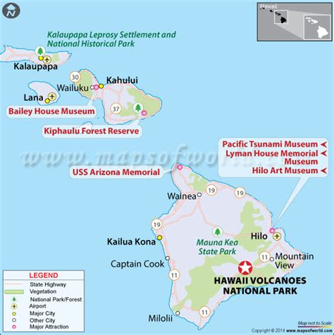 volcano usa map information about hawai i volcanoes national park