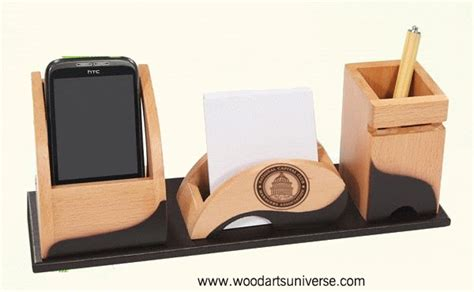 promotional desk organizer with cell phone holder