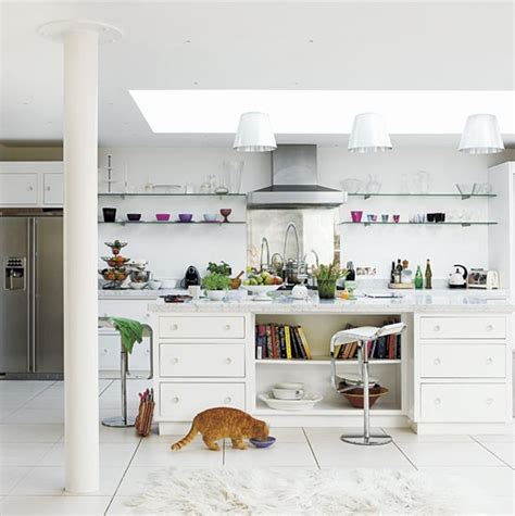 white house family kitchen step inside a relaxed pure white family home housetohome