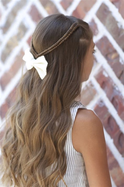 infinity braid tieback back to hairstyles cute