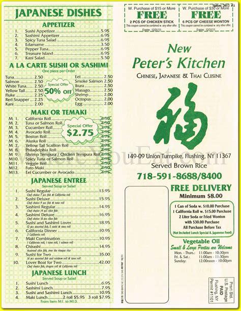 Zoës Kitchen Menu by S Kitchen Japanese Thai Restaurant In Flushing 11367 Menus Photos