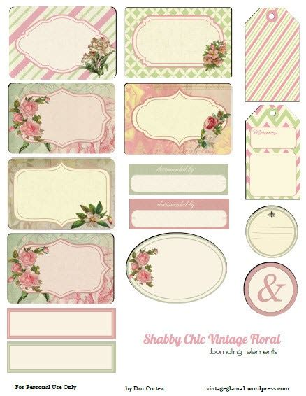 printable journal tags free printable vintage journal notes with a rose theme