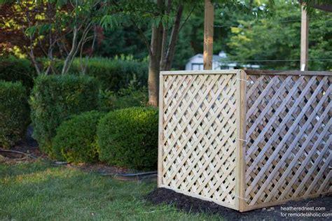 remodelaholic hide  ac unit diy outdoor air