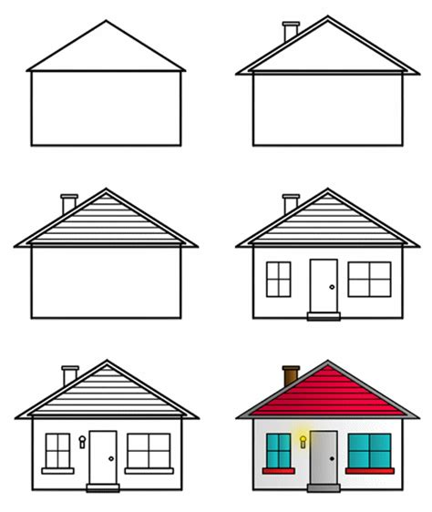 simple house drawing drawing cartoon houses