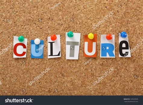 Letters And Society word culture cut out magazine letters stock photo