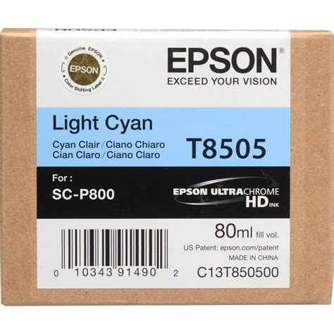 Alvacia Epson 80ml Light Cyan epson t850500 ultrachrome hd light cyan ink cartridge t850500