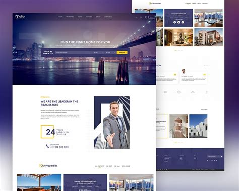 Real Estate Website Template Free Psd Download Download Psd One Page Real Estate Website Templates