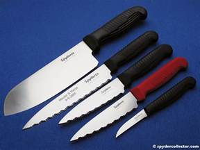 kitchen knives spydercollector