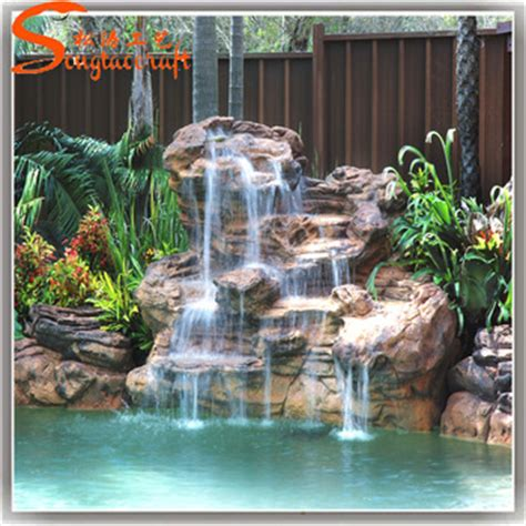 Lu Taman Outdoor Ornament Garden L Special Price garden home decoration artificial fiberglass rock waterfall used water for sale buy