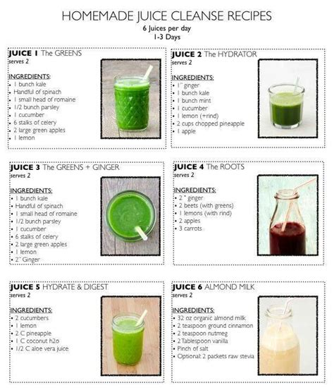 Juice Recept Detox by Juice Cleanse Recipes Fruit N Smoothie Drink