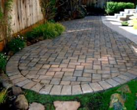 Patio Pavers At Lowes Home Landscaping Paver Patio Designs Diy How To Make Backyard Design With White Tile Brick