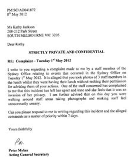 Complaint Letter To Management Company Sle Customer Complaint Response Letter Template Letter Sle Template And An
