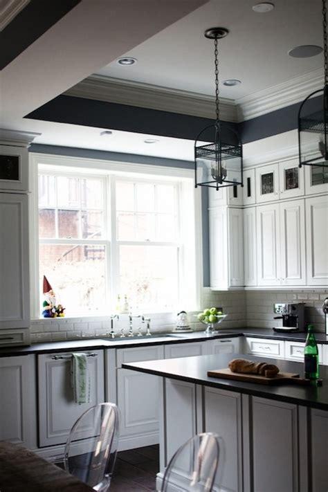 kitchen tray ceiling transitional kitchen rue magazine