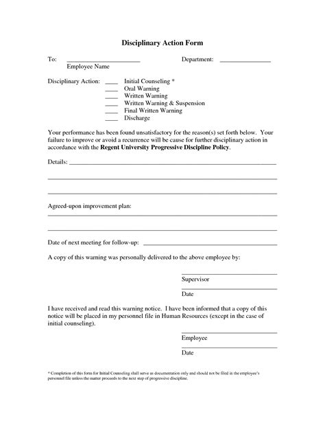 write up forms for employees templates free best photos of disciplinary write up forms for employees