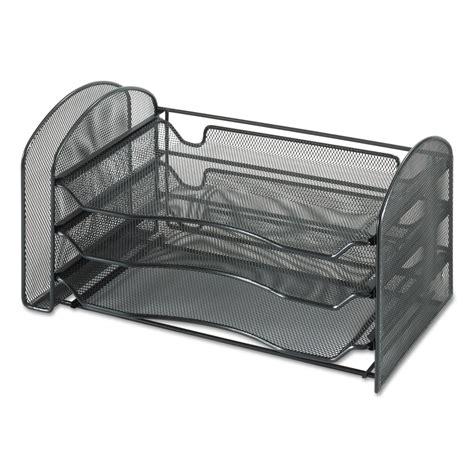 black mesh desk organizer safco saf3265bl mesh desk organizer 1 vertical 3