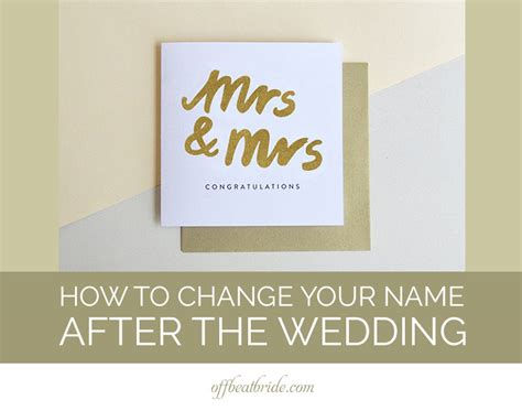 name changing a practical wedding blog ideas for the how to change your name after the wedding