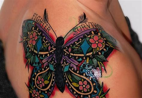 tattoo ink thyroid my gorgeous thyroid cancer survivor tattoo the butterfly